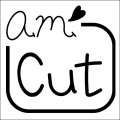 amハート Cutスタンプ