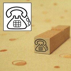画像1: レトロ 電話スタンプ
