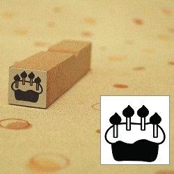 画像1: ローソク4本 ケーキスタンプ