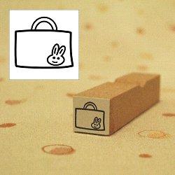 画像1: 幼稚園バッグ うさぎちゃんスタンプ