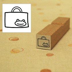 画像1: 幼稚園バッグ カエルちゃんスタンプ