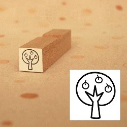 画像1: リンゴの木スタンプ