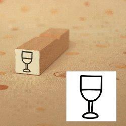 画像1: ワイングラス 白ワインスタンプ