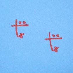 画像2: かおファベット tスタンプ