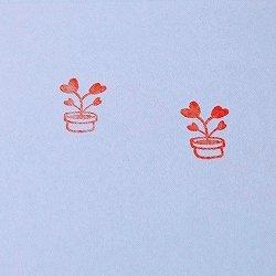 画像2: ハート植木鉢 家族 黒スタンプ