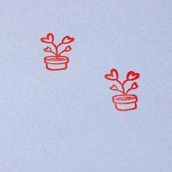 画像2: ハート植木鉢 家族 白スタンプ